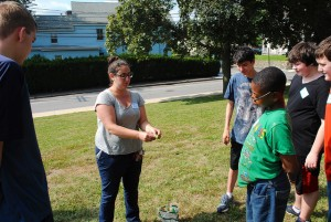 McDevitt Middle School garden lesson