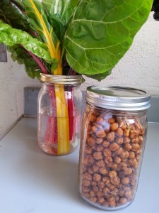 Use roasted chickpeas as a crunchy topping for a salad. Keep in airtight container.
