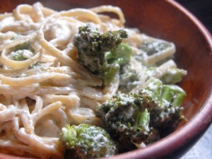 roasted broccoli alfredo