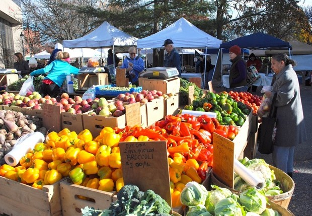 A diet rich in fruits and vegetables can help to reduce cancer risk. Photo taken at the Waltham Farmers' Market in fall 2013.